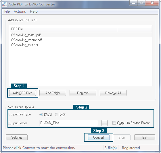 PDF to DWG Converter User Guide
